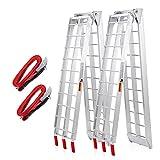 VENDAV ATV Ramps Aluminum Folding Loading Ramps 1500lbs Capacity 7.5FT,2pc...