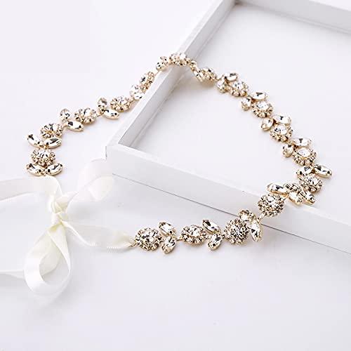 Diademas de novia de cristal de oro coreano, tocado de Tiaras largas...