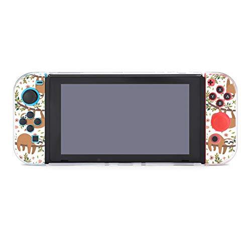 Funda protectora de PC antiarañazos para Nintendo Switch compatible con interruptores y controladores Joy-Con Split 5 piezas Soft Game Console Case - Perezoso colgante (2)