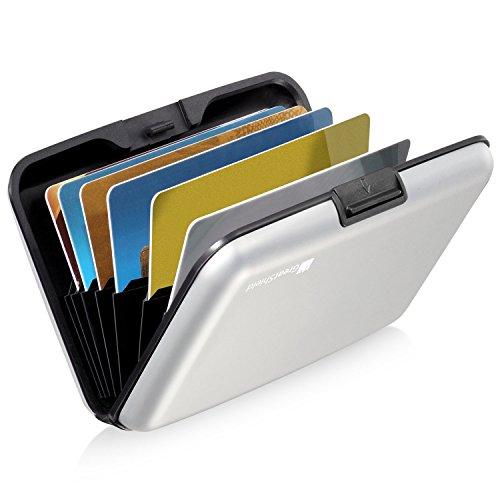 GreatShield RFID Blocking Karten Halter (Aluminium/Identität Protection) Visitenkarten...
