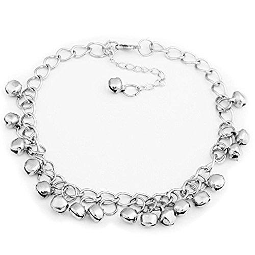 FACILLA Silver Tone Jingle Bells Anklet Ankle Bracelet Link 8mm HOT [Jewellery]
