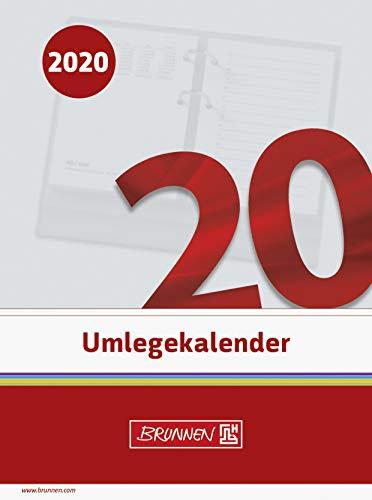 BRUNNEN 1070270 Tisch-/Umlegekalender (2 Seiten = 1 Tag, 110 x 145 mm (Form 270 E), linke Seite Kalendarium 2020, rechte Seite für Notizen, gelocht)