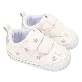 Mix and Max Embroidered Star Low-Top Velcro-Strap Shoes for Girls