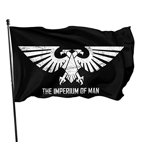 Atoyyre Imperium of Man Warhammer Galactic Empire Eagle Outdoor Decorative Flag Banner 3x5 Feet