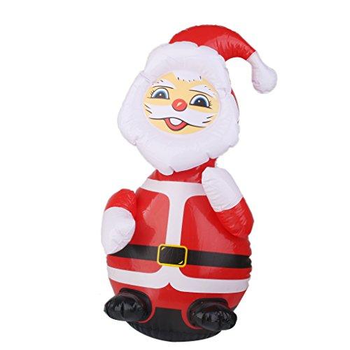 Babbo Natale Gonfiabile Palloncino 62cm Decoro Giardino Giocattoli Bambini