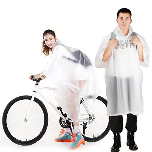 Regenponcho Yimorex 2 pcs Transparent Regenmantel Regencape Regenjacke für Damen und Herren 2 in1 Wasserdicht Wiederverwendbar Regen Poncho Eva Regenbekleidung für Radfahren Camping Wandern, Festivals