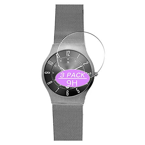 [3 Pack] Synvy Tempered Glass Screen Protector, Compatible with Skagen Grenen 233XLTTM WATCH CASE...