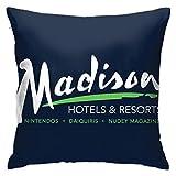 Funda de almohada Billy Madison Radisson Hotels Mix Funda de almohada decorativa para decoración del hogar cuadrada 45,7 x 45,7 cm