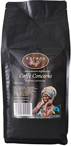 escapp Kaffee Concerta Fairtrade Espresso 1kg gemahlene Bohnen