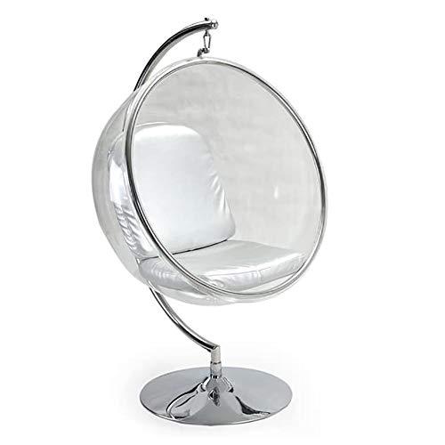 ZZYYZZ Silla Colgante giratoria de Interior Silla Bubble Sillón Giratorio con Base, Silla Colgante Transparente de acrílico con cojín Incluido