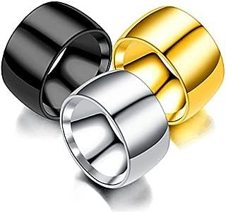 3 قطع الفولاذ المقاوم للصدأ الكلاسيكية خاتم الزفاف الفرقة بسيطة بسيط 12 مم خواتم الخطوبة للنساء الرجال
