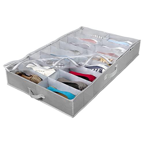 Extra-Large Under Bed Shoe Storage Organizer -...