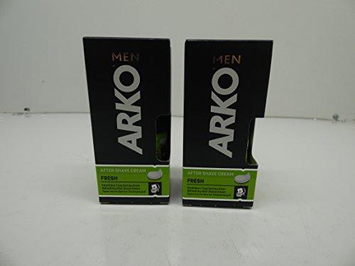 Arko Men After Shave Cream Fresh, Pack of 2, 1.7oz x 2