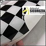 StickersLab - Pellicola in Vinile Adesivo a Scacchi Bianco/Nero Lucido Wrapping No Bolle (Misura - 152cm x 50cm)