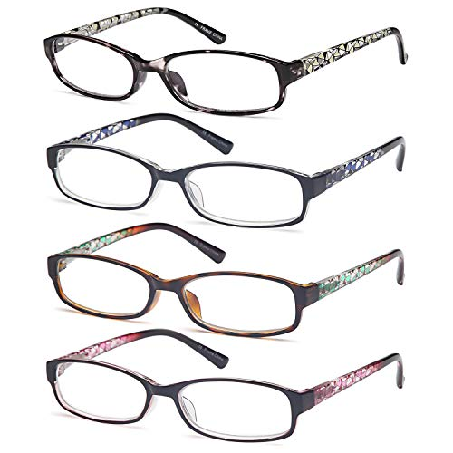 Gamma Ray Women's Reading Glasses 4 Print Ladies Fashion Readers for Women - 1.00