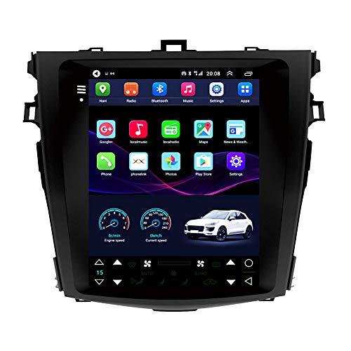 Kilcvt GPS-funknavigation, 9-Zoll- / Android 10-Auto-Multimedia-Player, Für Toyota Corolla 07-11 Vertikale...