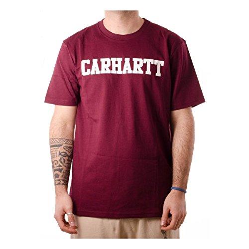 Carhartt I024772.619.90.03 T-Shirt, Rosso (Chianti/White 619.90), Large (Taglia Produttore:L) Uomo