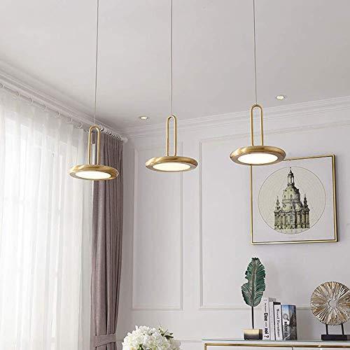 HEZHANG Lámpara de Techo de Re Led Amarillo Luz Cálida Redondo Acrílico Araña Comedor Sala de Estar Estudio Dormitorio Simple Personalidad Moderna