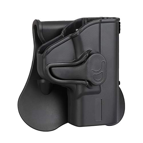 OWB Holster Fits Smith & Wesson MP Shield 9MM/.40(3.1'' Barrel), Paddle Holster for S&W M&P Shield M2.0 9MM/.40(3.1'' Barrel), Belt Carry Tactical Gun Holster - Right Handed