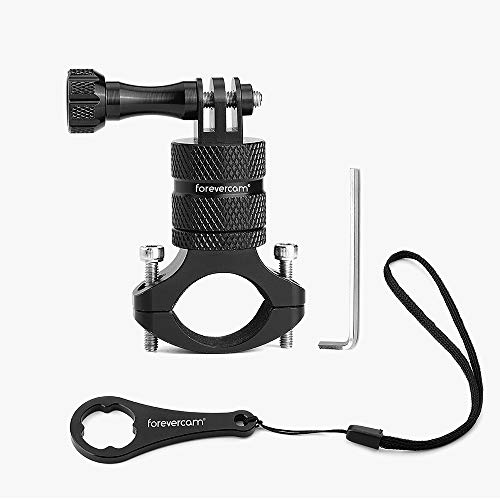 Mountain Bike Camera Handlebar,for All gopro Models/Action Cameras Mountain Bike Mount, Aluminium 360 Degree Rotation Upgraded Version by Forevercam