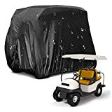 Housse universelle pour voiturette de golf, boîtier de voiturette de golf étanche à la pluie Housse de protection anti-poussière étanche au soleil, deux fermetures à glissière latérales,housse