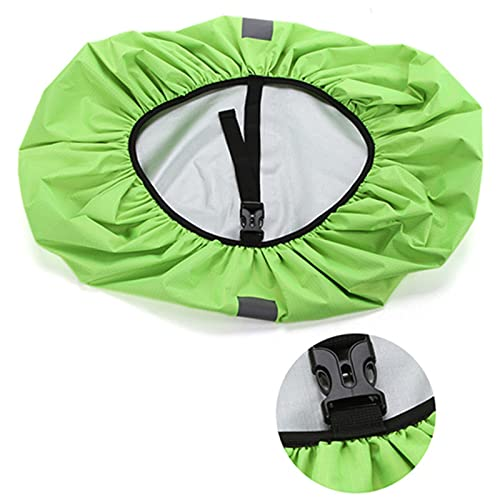 QSCTYG Mochila de la Cubierta de Lluvia Reflectante Bolsa Impermeable al Aire Libre Camping Senderismo Escalada Polvo Rapotover Funda Mochila Impermeable 982 (Capacity : 20L, Color : Green)