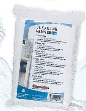 25x Tonerreinigungstücher, zur Reinigung von Tonerresten in Laserdruckern, Toner Wipe, Putztuch