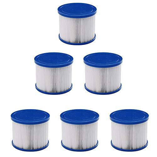 Arebos 6 cartucce filtranti di ricambio per vasca idromassaggio