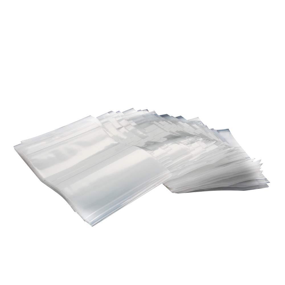 Othmro Zip-Style Specimen Bags Non-Writable Rectangle Plastic 150x250mm Clear Yellow 300pcs