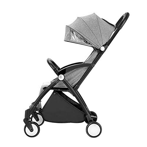 UNDERSPOR Prams Spaziergänger Portable One-Click-Folding, Can Sit and Lie Can Go im Flugzeug, Lager 15kg, 0-36 Monate Baby