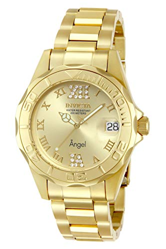 Invicta 14397 Women's Angel Bracelet 18K Gold Plated Ss Gold Tone Dial Watch is $77.42 (14% off)