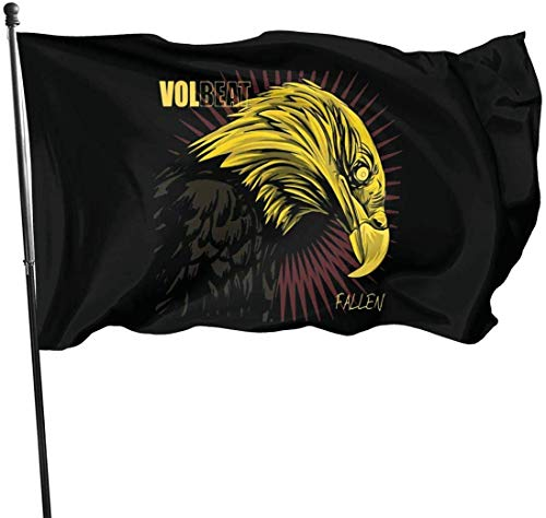 N/A Volbeat Fallen Decorative Garden Flags, 3 X 5 Ft Flag for Outdoor Indoor Home Decor
