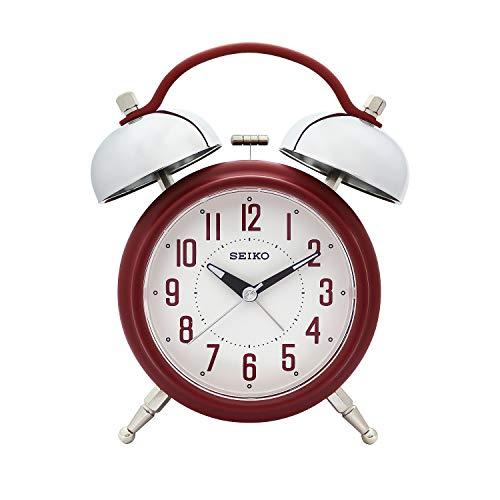 Seiko Red Alarm Table Clock Qhk051Rn (18 X 14 cm)