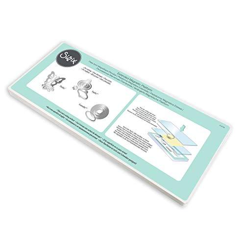 Sizzix Extended Magnetic Platform für Wafer-Thin Schablonen, Plastik, transparent, 37,0 x 15,5 x 1,5 cm