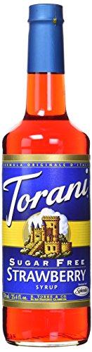 Torani Sirup Strawberry Erbeere 750 ml Flasche Zuckerfrei Sugar Free