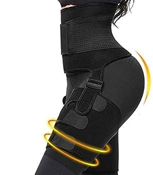 Dobiyar High Waist Thigh Trimmer -3 in 1 Waist Trainer for Women for Fitness  M black