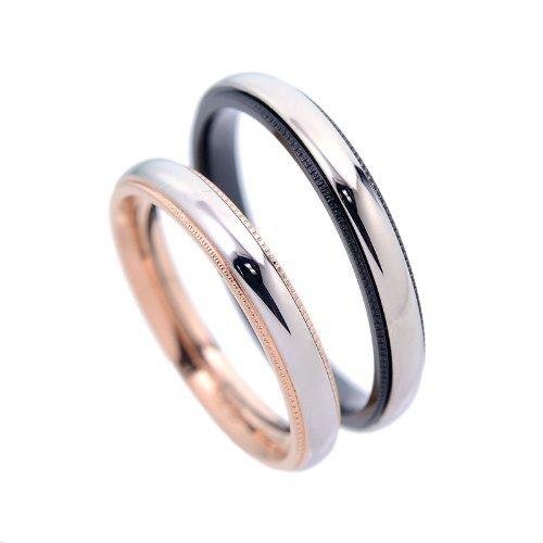 指輪 ペアリング 刻印 可能 サージカル ステンレス サイドミル打ちデザイン 2個 セット カップル