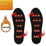cheerfulus-123 Plantillas térmicas de Invierno para Hombres Recargables, Plantillas térmicas eléctricas USB Pad Calentador de pies para Deportes al Aire Libre Caza Pesca Esquí