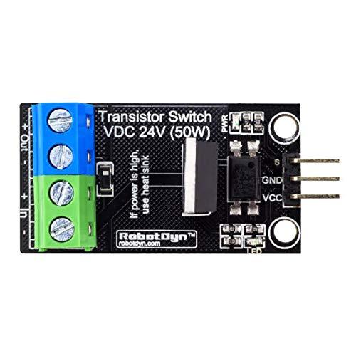 JCMY Módulo de relevo Interruptor Transistor MOSFET DC 5V módulo de lógica DC 24V 30A con Optocouplers 3 Piezas Kit de componentes electrónicos