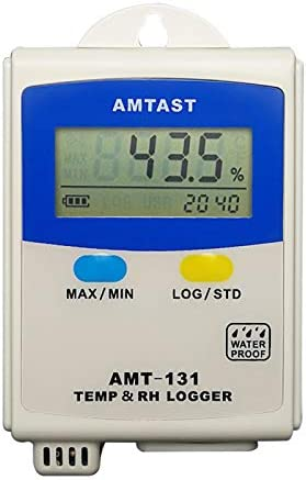 AMTAST Temperature and Humidity Data Logger LCD Display Hygrometer Thermometer Data Recorder product image