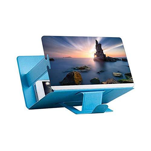 YUXIwang Lupe. Universal-Handy-Screen Magnifier for Handy-Video Screen Amplifier 3D beweglichen Schirm for Smartphone Vergrößerer Bildschirm (Color : 8inch Blue)