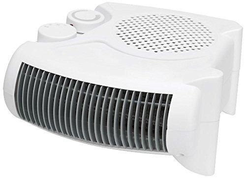 Clatronic Heizlüfter HL 3379, 2 Heizstufen (1000/max. 2000 Watt), Kaltstufe (Ventilator), 2 unterschiedliche Aufstellmöglichkeiten, weiß