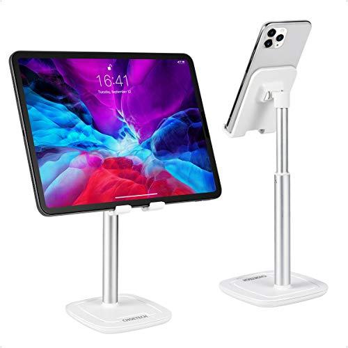CHOETECH Soporte Tablet, Soporte Teléfono Móvil Ajustable para iPhone 12/12Pro/12Mini/11/SE 2/XS/XR/X/8, Samsung Galaxy S20/S10/S9, Xiaomi, Huawei, iPad Pro/Air 2020, iPad 2020, Tabletas y Teléfonos