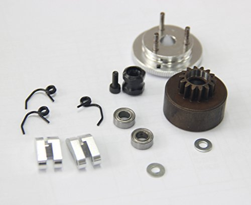 Signswise Fly Wheel + Clutch Shoe/Bell Nitro Engine Motor Clutch Set for 1/8 Scale Rc Cars