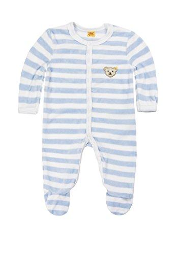 Steiff Unisex - Baby Strampler, gestreift Classics Nicky 0002848, Gr. 68, Blau (baby blue 3023)