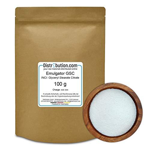 100 g Glyceryl Stearate Citrate (GSC), Emulgator für Hautcremes, Gesichtscremes & Sonnenschutz-Rezepturen