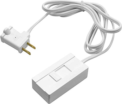 TOPGREENER Table-Top Plug in Dimmer for Table or Floor Lamps, Slide Control, Works with 360 Watt Incandescent/Halogen and 150 Watt Dimmable CFL/LED, Off at lowest dim, 6ft Cord, TGTTDL300-W, White