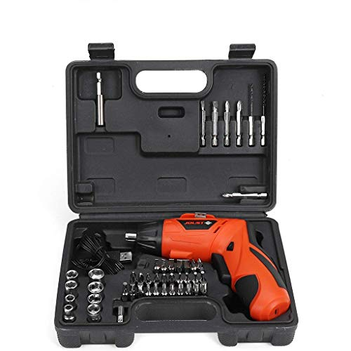 Electric Cordless Screwdriver Rechargeable 4.2 Volt 500mAh Li-ion Power Screw Guns with Twistable Handle & 45 Piece Drill and Screw Accessories by Mostbest