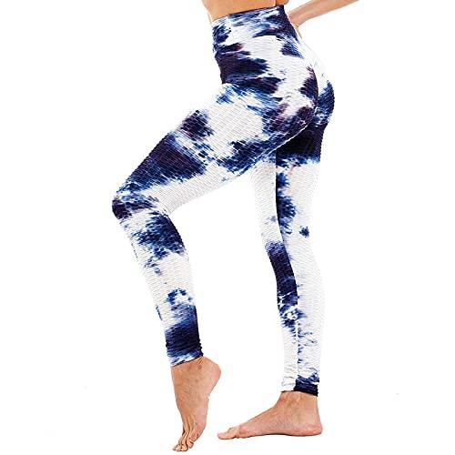 QTJY Pantalones Deportivos de Entrenamiento de Gimnasia, Pantalones de Yoga con Cintura Alta y Levantamiento de Caderas, Mallas Deportivas de Entrenamiento de Flexiones BM