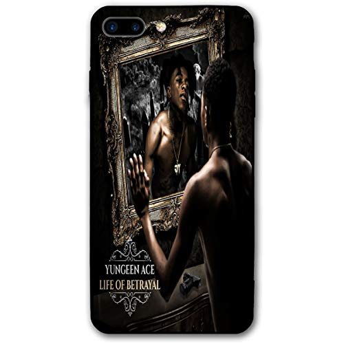 Yungeen Ace Phone Case for iPhone 7 Plus/8 Plus Cases TPU Glass Phone Full Protection Cover for iPhone